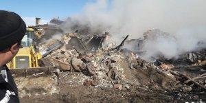 Beyşehir'de Ev Deposunda Yangın