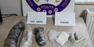 Konya narkotikten uyuşturucu tacirlerine darbe: 2 gözaltı