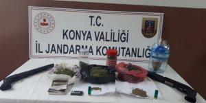 Konya'da Jandarma'dan uyuşturucu operasyonu