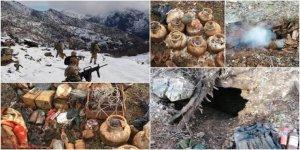Pkk'lı Teröristlerin Kullandığı 9 Sığınak İmha Edildi