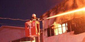 Mobilyacılar Sitesinde korkutan yangın