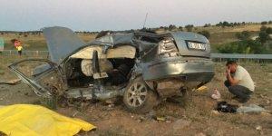 Konya'da feci kaza: 2 ölü, 3 yaralı