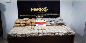 Konya'da 115 Kilo Eroin Ele Geçirildi
