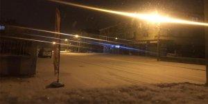 Konya'da beklenen kar yağışı başladı