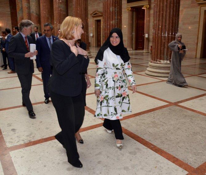 Arap dünyasının ilk kadın Meclis Başkanı, Viyana'da