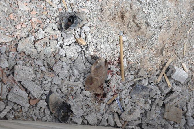 Aksaray'da inşaattan düşen işçi yaralandı