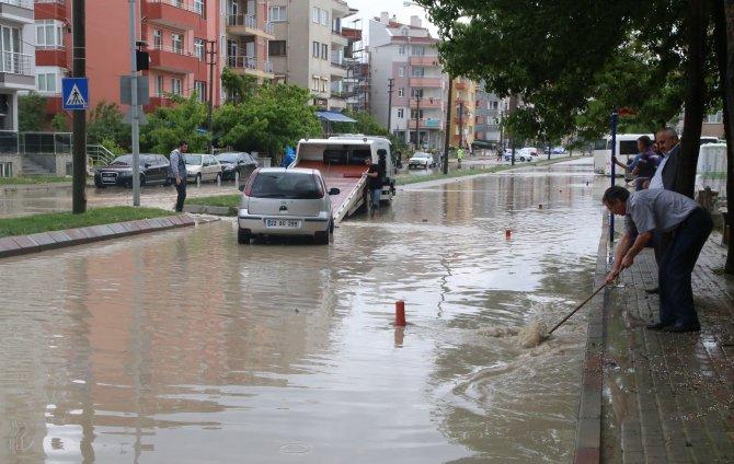 Edirne'de şiddetli yağış