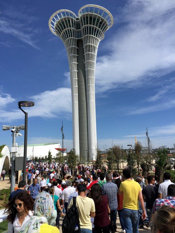 EXPO 2016 Antalya'yı ilk gün 35 bin 705 kişi ziyaret etti