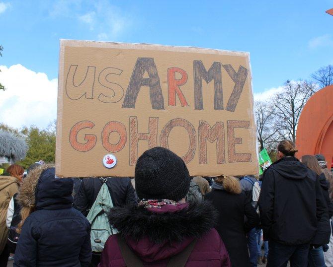 Hannover'de TTIP protestosu