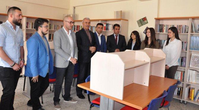 Marmara Üniversitesi öğrencileri Sorgun'da kütüphane kurdu