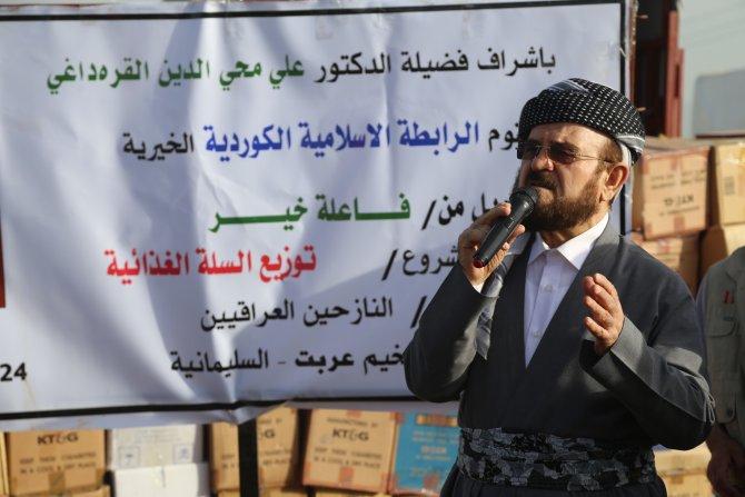 Dünya Müslüman Alimler Birliği'nin Irak'taki insani yardımı