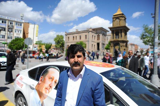 Erdoğan'a destek turuna çıkan Özavcı Aksaray'da