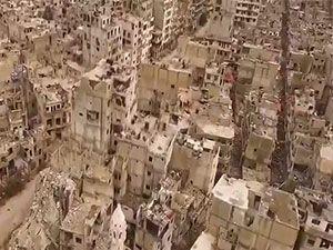 Milyonluk şehir Humus, artık bir harabe