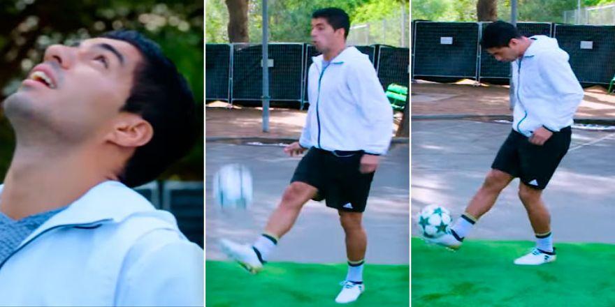 Luis Suarez'den inanılmaz top kontrolü! 35 Metre!