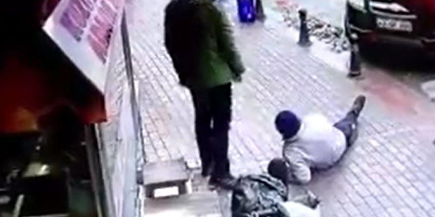 Otopark görevlisinin vurulması güvenlik kamerasında