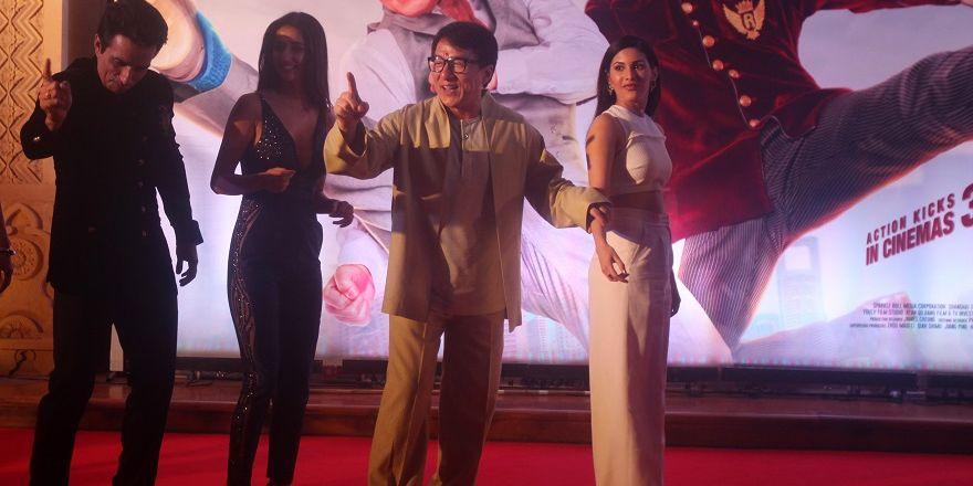 Jackie Chan yeni filmi Kung Fu Yoga'nın tanıtımına katıldı