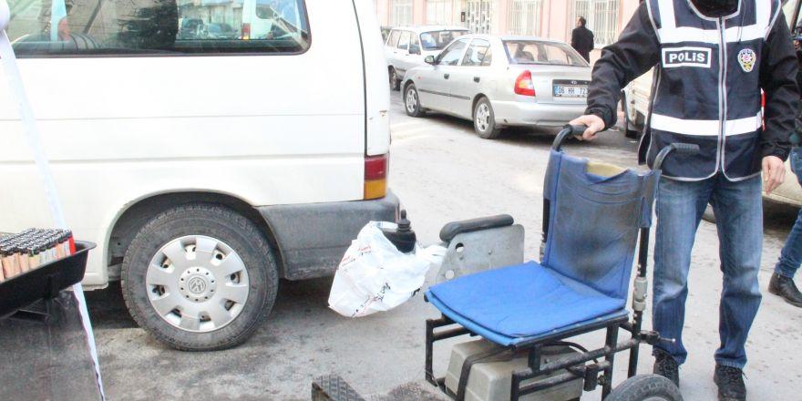 Engellinin çalınan akülü aracı bulunarak teslim edildi