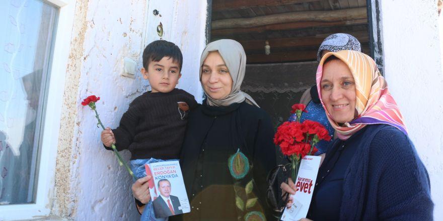 Milletvekili Usta ev ziyaretlerinde bulundu, destek istedi