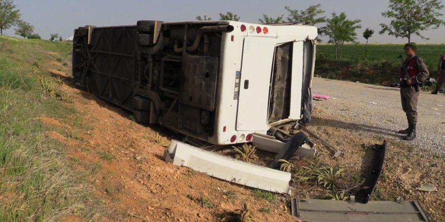 Konya'da otobüs kazası: 38 Yaralı