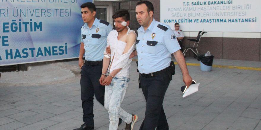Konya'da Afgan taciz şüphelisi hastanelik edildi