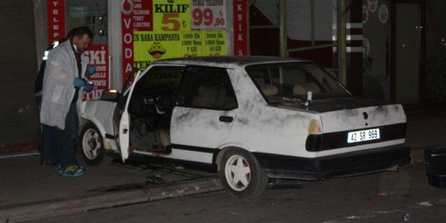 Konya'da otomobilde silahlı saldırıya uğrayan kişi hayatını kaybetti