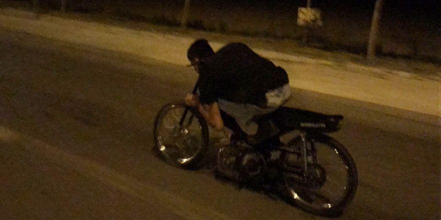 Konya'da tehlikeli yolculuk kameralarda