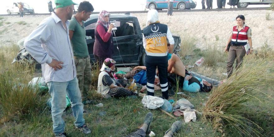 Konya'da feci kaza : 2 ölü, 7 yaralı