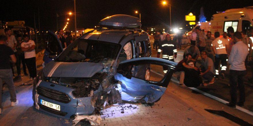 Konya'da feci kaza: 1 ölü, 7 yaralı