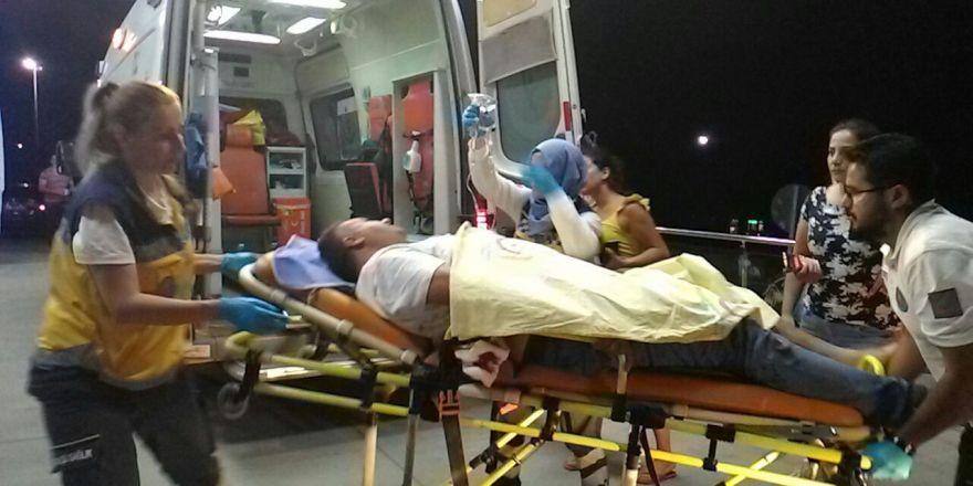 Sevgilisinin dükkânına ziyarete gitti, bacağından vuruldu