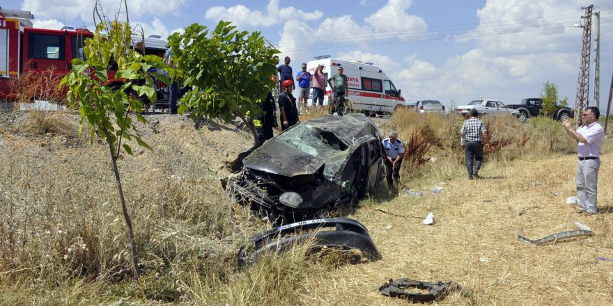 Tatil dönüşü kaza: 2 yaralı