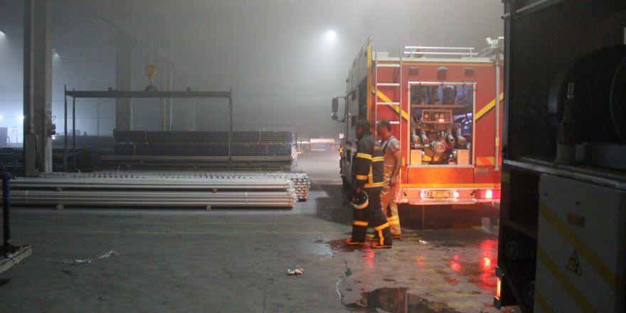 Alüminyum fabrikasında yangın: 2 yaralı