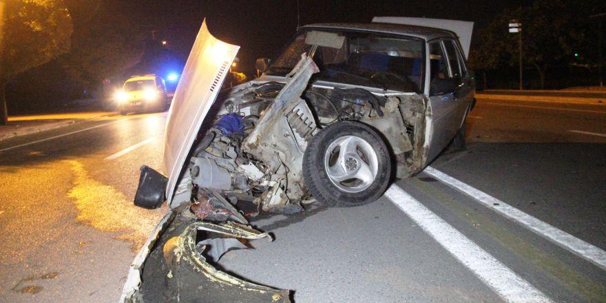 Alkollü ve ehliyetsiz sürücü kazaya neden oldu