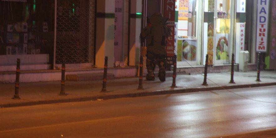 Konya'da şüpheli kutu fünye ile patlatıldı