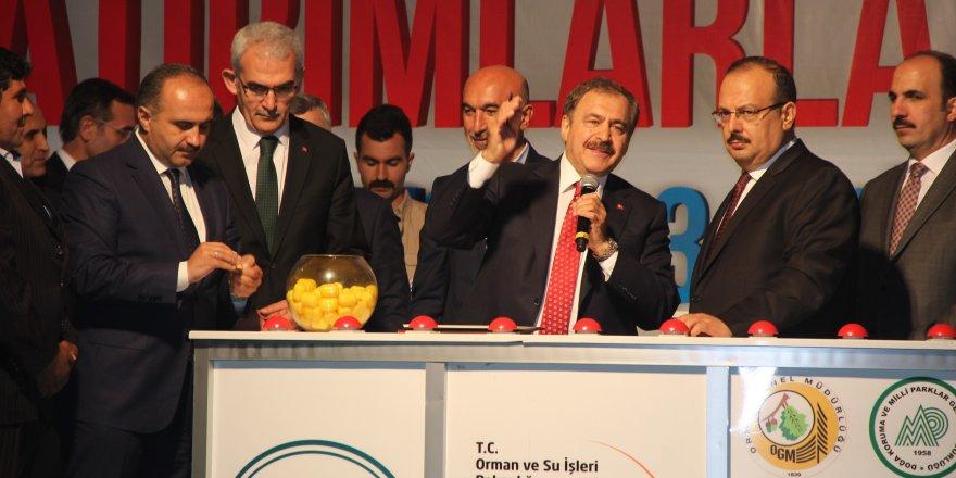 Bakan Eroğlu açılış ve temel atma törenine katıldı