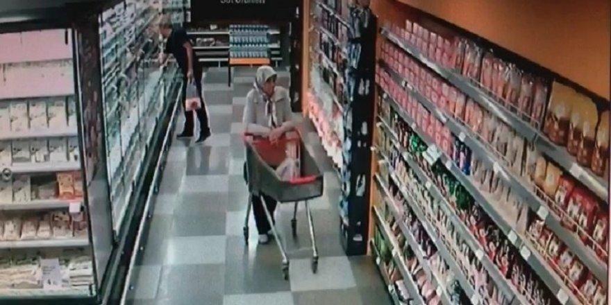 Çaldığı elbise ile tekrar hırsızlığa gelen kişi, çalışanların dikkati sayesinde yakalandı