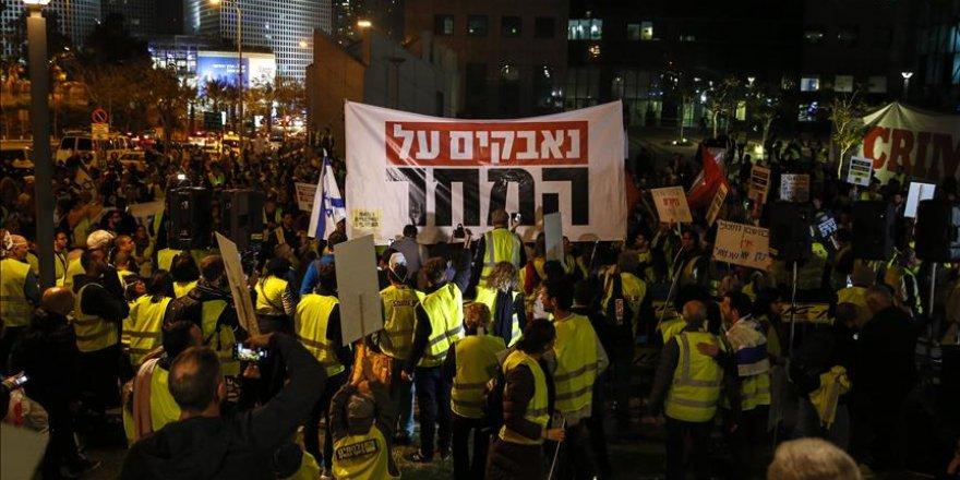 İsrail'de 'sarı yeleklilerden' hayat pahalılığı protestosu