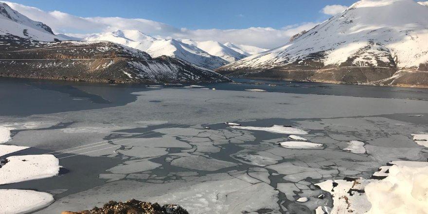 Yüzen adalar dondu