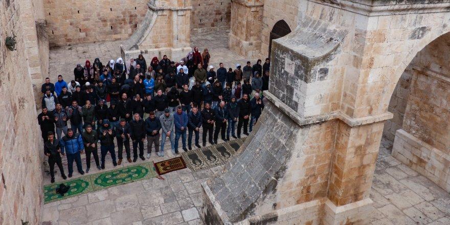 Filistinlilerin Mescid-i Aksa nöbeti devam ediyor