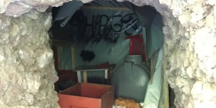 Pençe Harekatı'nda terör örgütüne ait mağara ve sığınaklar imha ediliyor