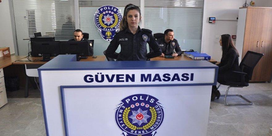 """Polis merkezlerine """"güven masası"""" kuruldu"""