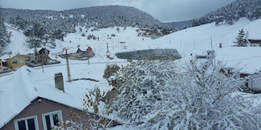 Türkiye'de kasım ayında kar manzaraları