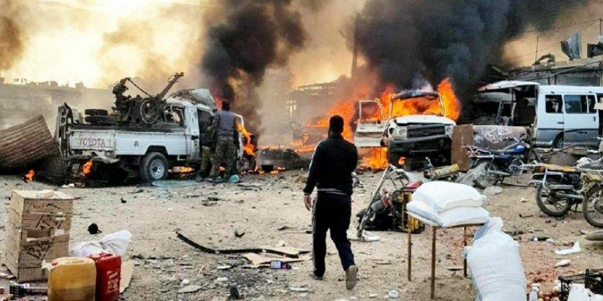 Rasulayn ilçe merkezinde bomba yüklü araçla saldırı düzenlendi