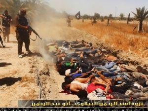 IŞİD, Tikrit'te 1700 emniyet personelini kurşuna dizdi.
