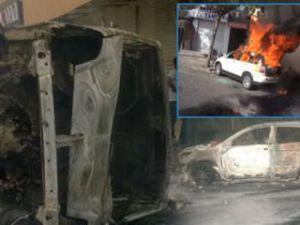 Bağcılar'da arabaları yaktılar